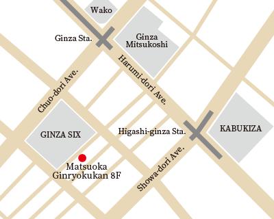 GINZA Kousui map