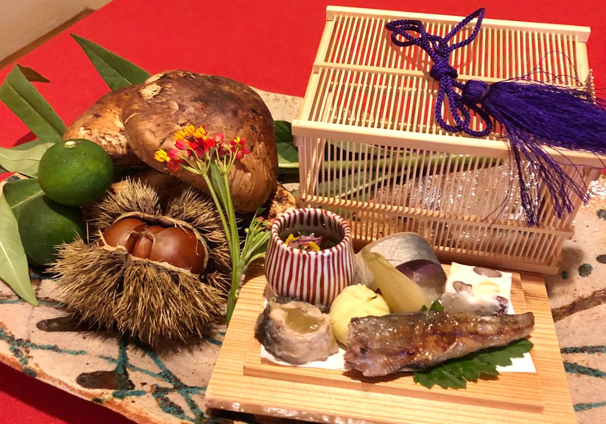 銀座志翠の季節の食材特別コース